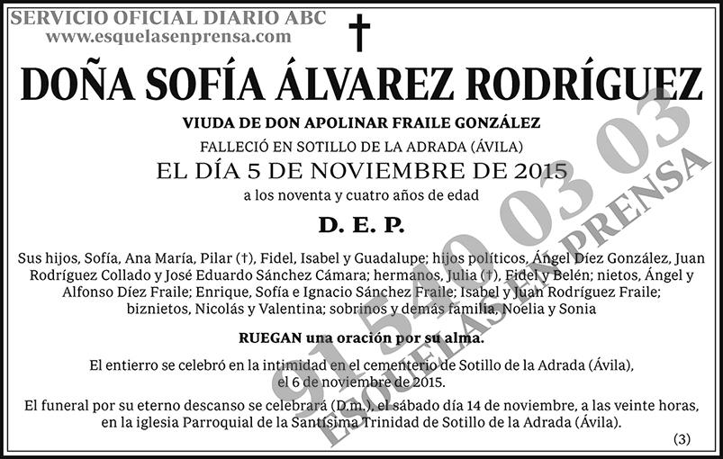 Sofía Álvarez Rodríguez